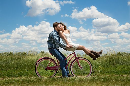 ngagement, Couple, Romance, Bike